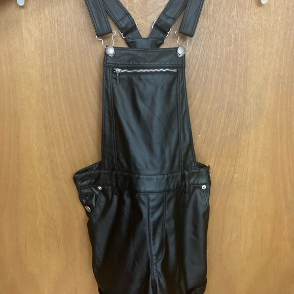 Women's Bebe overalls black